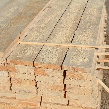 Edging board in stacks photo