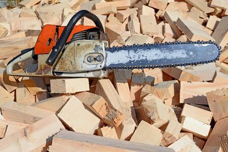 primary product: Chain saw on board edger