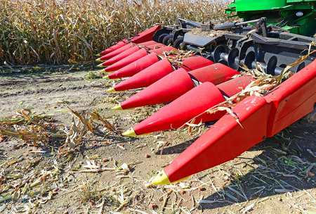 tanker type: Corn harvesting combine