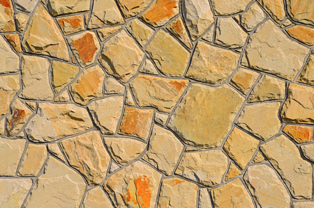 chipped: Fragment of a wall from a chipped stone