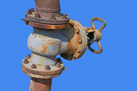 'main squeeze': Water-gate valve on pipeline of low pressure