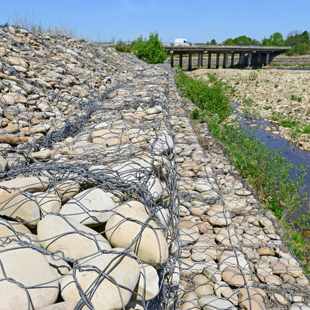 strengthening: Strengthening of coast of mountain small river