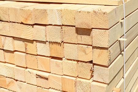bing: Eaves board in stacks Stock Photo
