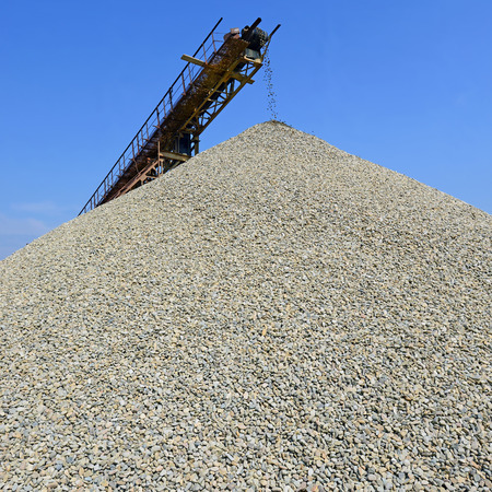 A pile of washed river gravel photo