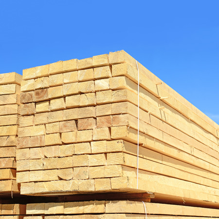 workable: Eaves board in stacks   Stock Photo