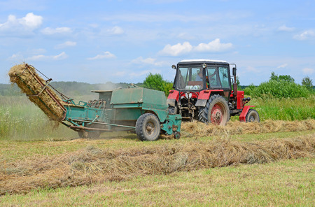 agricultural implements: Hay harvesting Stock Photo