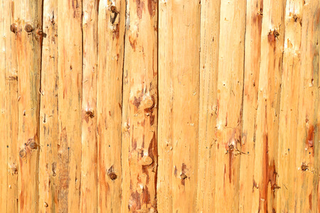 workable: A fragment of a wooden fence. Stock Photo