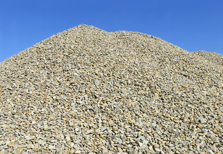 detritus: A pile of washed river gravel Stock Photo