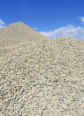 grail: A pile of washed river gravel Stock Photo
