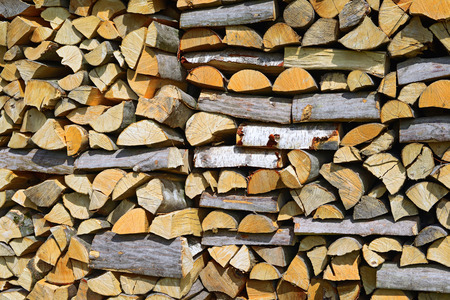 Feu de bois Chipped
