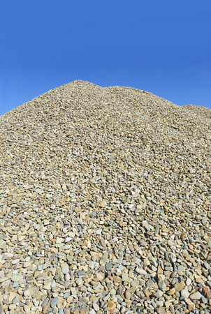 erection: A pile of washed river gravel Stock Photo