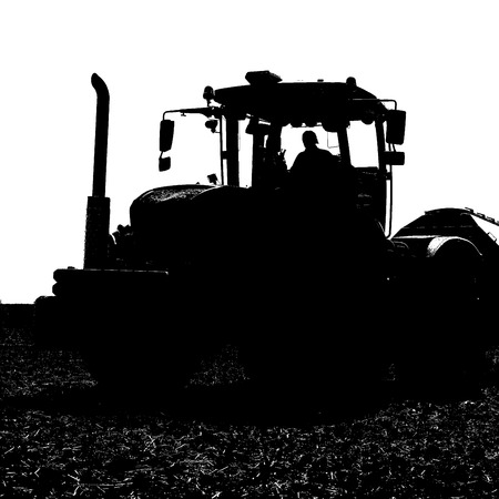 agricultural tenure: Planting corn trailed planter in the field