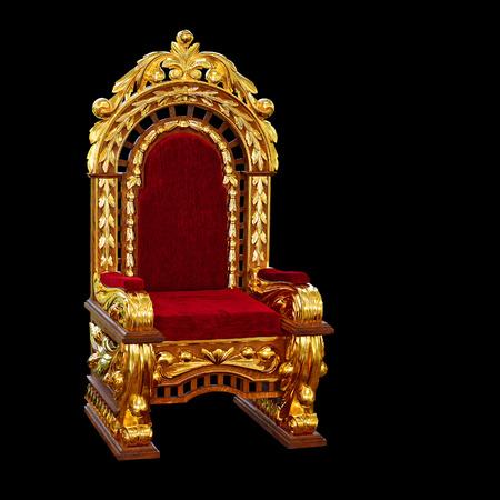 vermeil: Antique oak chair covered with gold leaf after restoration