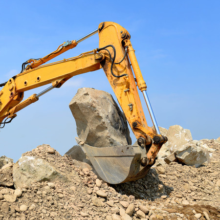 excavating machine: On the construction of a protective dam