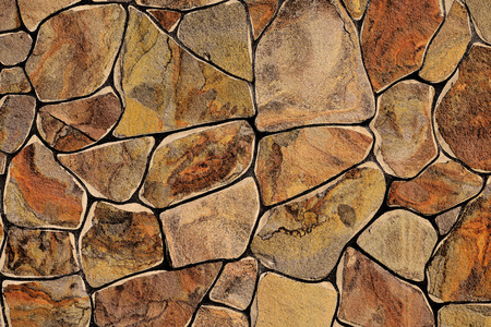 of stone: Fragment of a wall from a chipped stone