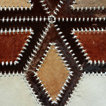 cow hide: Detail from cow skin rug