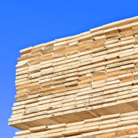 eaves: Eaves board in stacks Stock Photo