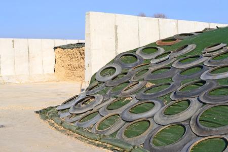 silo: Storage silos in a trench silo