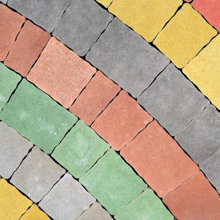 paved: Platform paved by a concrete stone blocks