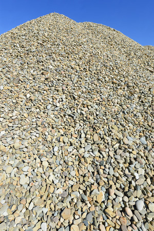 bing: A pile of washed river gravel Stock Photo