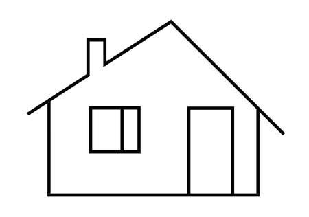 dwelling: Contour image of an dwelling house Stock Photo