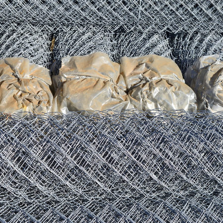 uncoated: Steel wire lattice in rolls.