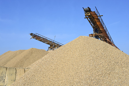 broken hill: A pile of washed river gravel Stock Photo