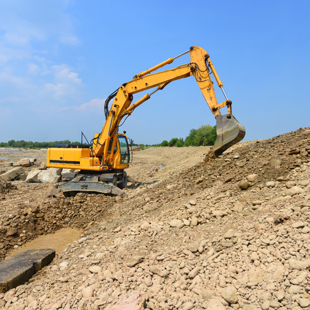 stabilization: On the construction of a protective dam