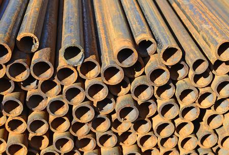 steel: Steel pipes.