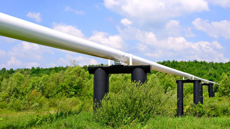 swapping: The high pressure pipeline Stock Photo