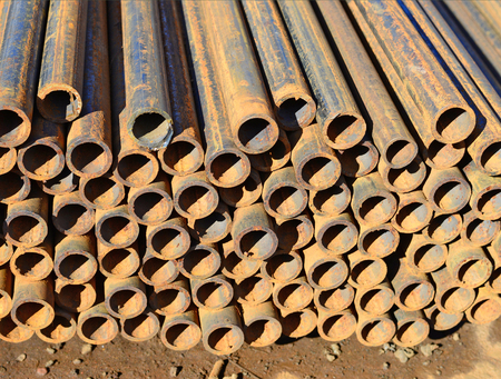 steel pipes: Steel pipes Stock Photo