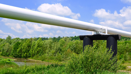 The high pressure pipeline Stock Photo