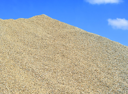 A pile of washed river gravel Stock Photo