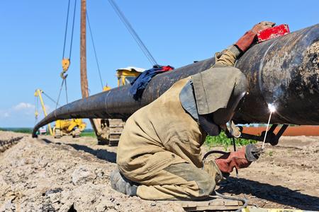 remedial: Welder on the pipeline repairs.