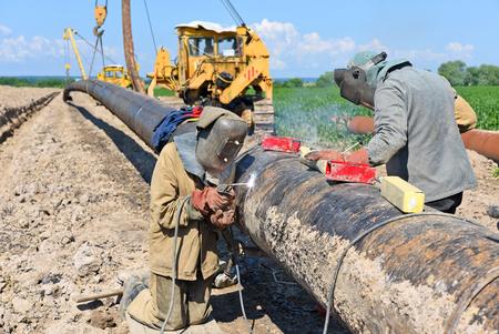 Welder on the pipeline repairs.