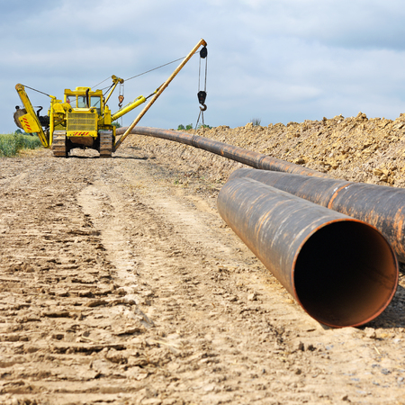 remedial: Pipe layer on the repair of the pipeline