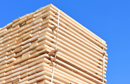Eaves board in stacks Stock Photo