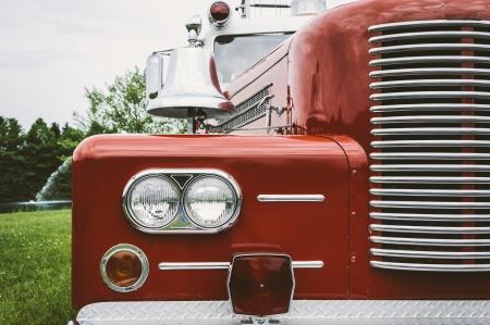 camion pompier: Vintage Truck Fire