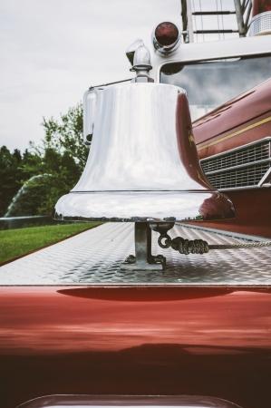 antique fire truck: Bell on Vintage Fire Truck