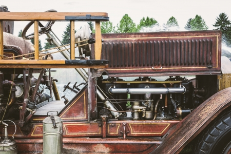 coche de bomberos: Coche de bomberos de la vendimia