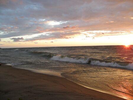 northeast ohio: Sunset  at the Dunes