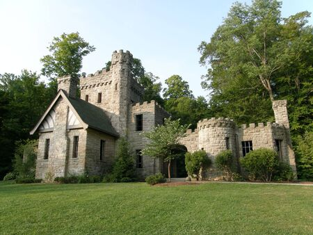 northeast ohio: Morning at Squires Castle Stock Photo