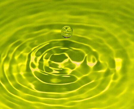 Yellow Droplet Stock Photo