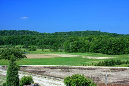 northeast ohio: Rolling Hills of Ohio Stock Photo