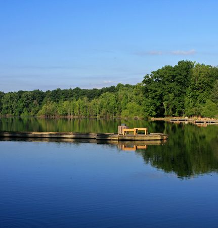 northeast ohio: Too Early for Anglers Stock Photo