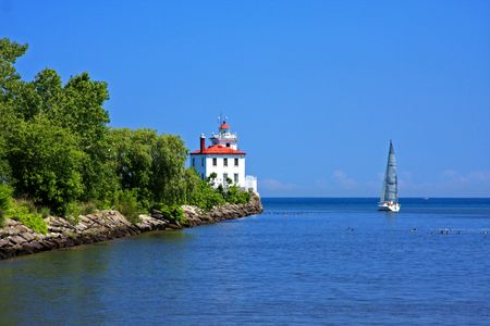 Sailing Lake Erie Stock Photo - 5100006