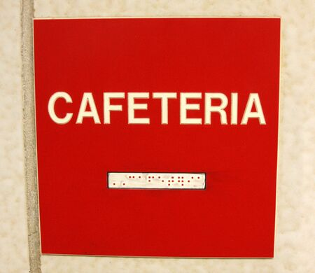 Cafeteria Sign Braille