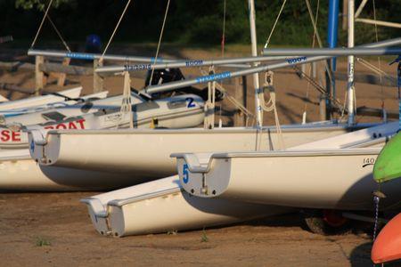 northeast ohio: Sail Boat Rental at Dusk Stock Photo