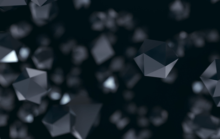 Abstract Platonic Black Backround And Wallpaper Stock Photo