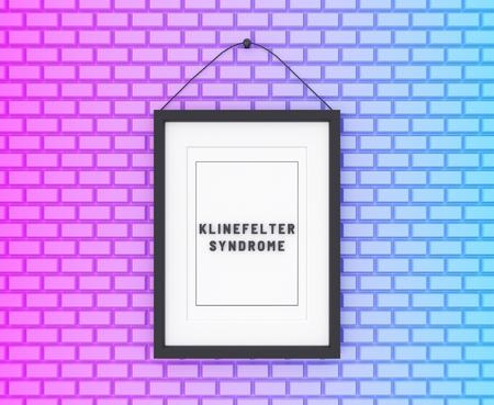Klinefelter Syndrome written on a colorful background. Medicine concept. 3D Illustration.